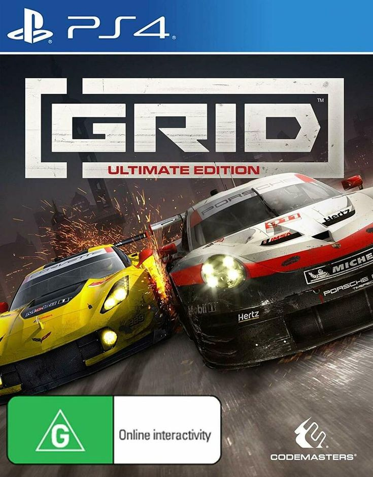 Grid ultimate edition sony ps4 car racing game playstation