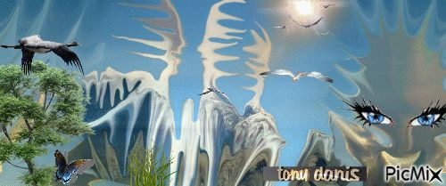 fantasy world 5 original backgrounds, painting,digital art by tonydanis