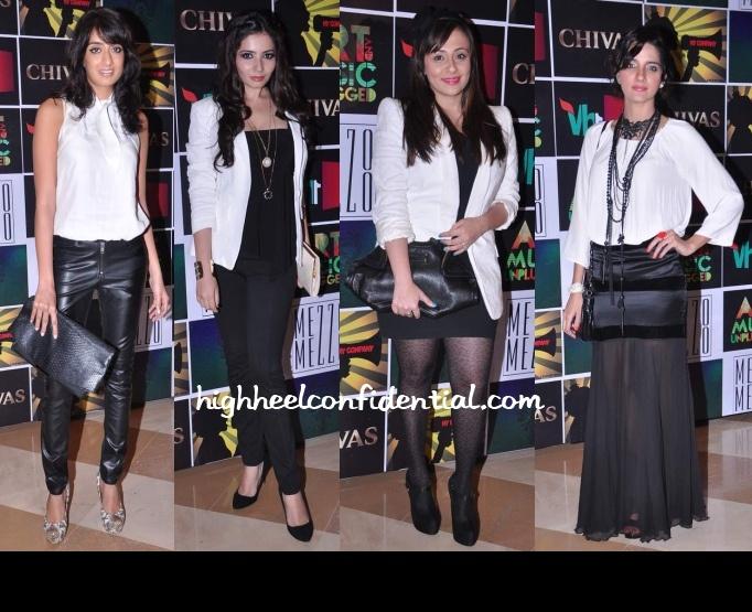 Black and White on Shruti Seth, Avantika Malik, Binal and Shonali