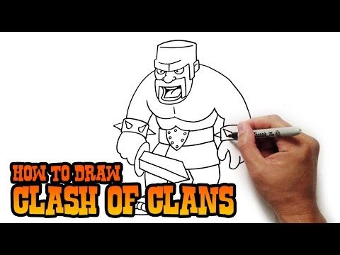 How to Draw Barbarian | Clash of Clans - YouTube