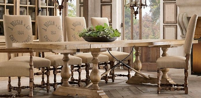 Country French Dining Room Table And Chairs
