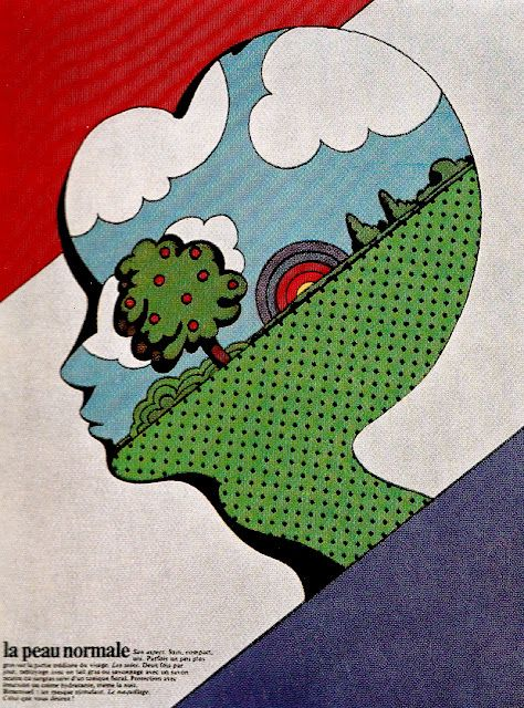Gebrauchsgraphik International January 1971 illustrations by Milton Glaser