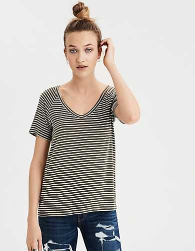 fefbcbbb775d AE Soft & Sexy V-Neck T-Shirt - | FASHION | FALL WISH LIST | Pinterest |  Bold colors, American eagle outfitters and Scoop neck
