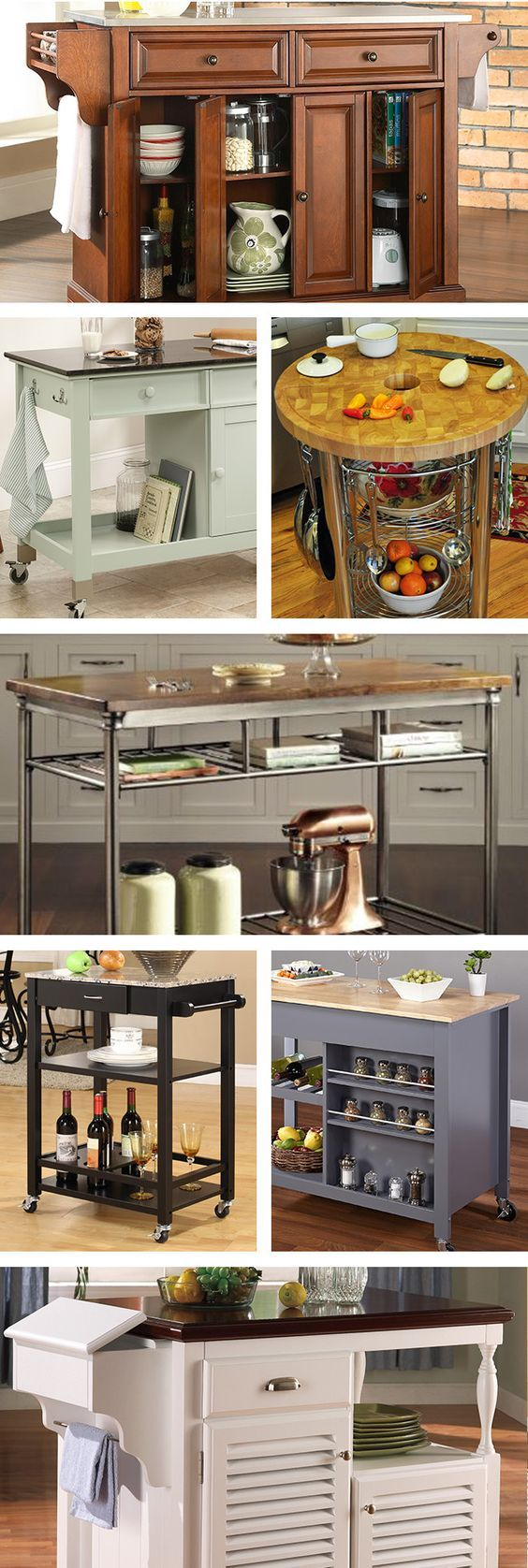 For a stylish all-in-one solution, opt for a rolling kitchen cart or an island equipped with cabinets, drawers, and lots of shelving. Visit Wayfair and sign up today to get access to exclusive deals everyday up to 70% off. Free shipping on all orders over $49.: