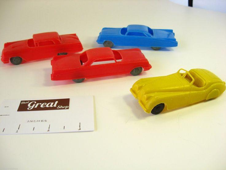 Vintage Soft Plastic Toy Car Marx Service Station O Scale ...