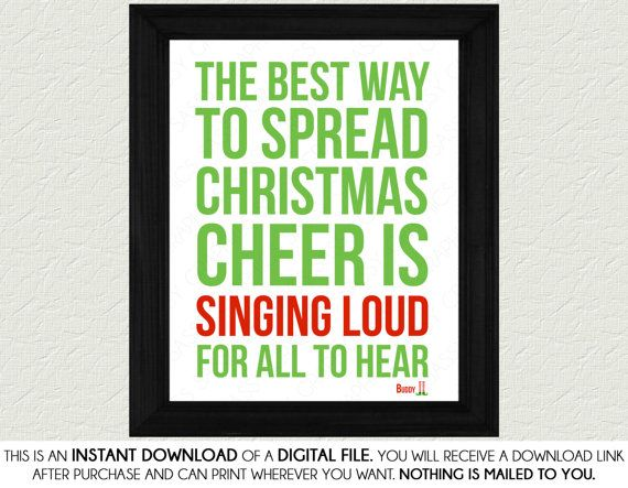 Free Christmas Printables With Favorite Movie Quotes: Best 25+ Elf Quotes Ideas On Pinterest
