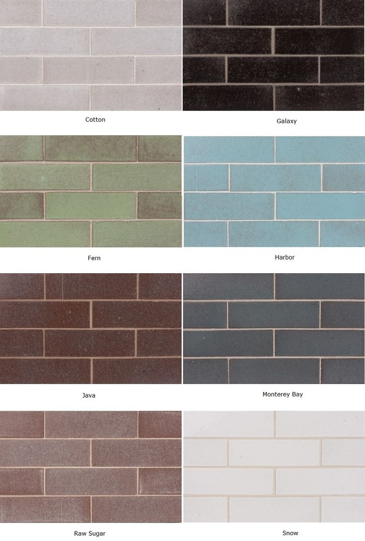 Glazed Thin Brick, by Fireclay Tile --- subway shape, but more natural looking material