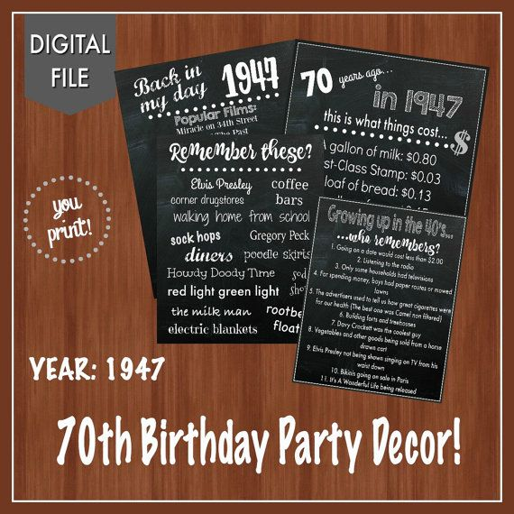 1000 ideas about 70th birthday parties on pinterest 70 for Decoration 70th birthday
