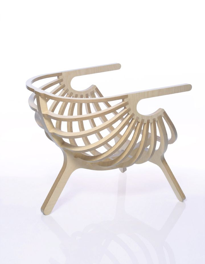 Delightful Portuguese Designer Marco Sousa Santos Of Branca Lisboa Has Created This  Unique Wooden Chair Called U0027shellu0027. Shell Is A Lounge Chair Made Of Exposed  Plywood ... Photo Gallery