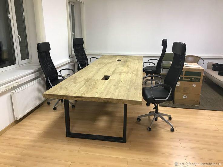 Большой стол в стиле лофт – купить в интернет-магазине на Ярмарке Мастеров с доставкой