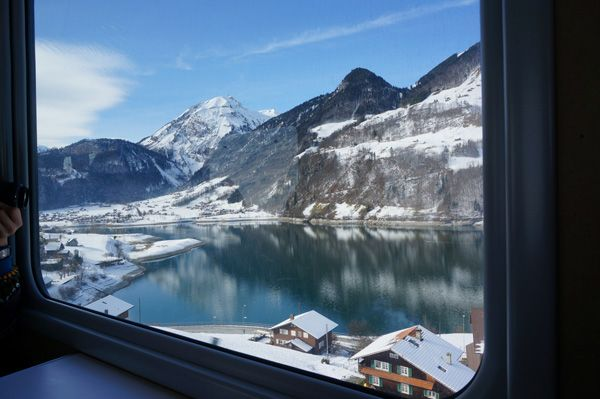 When traveling with Eurail in winter: Be ready for some spectacular winter scenery!