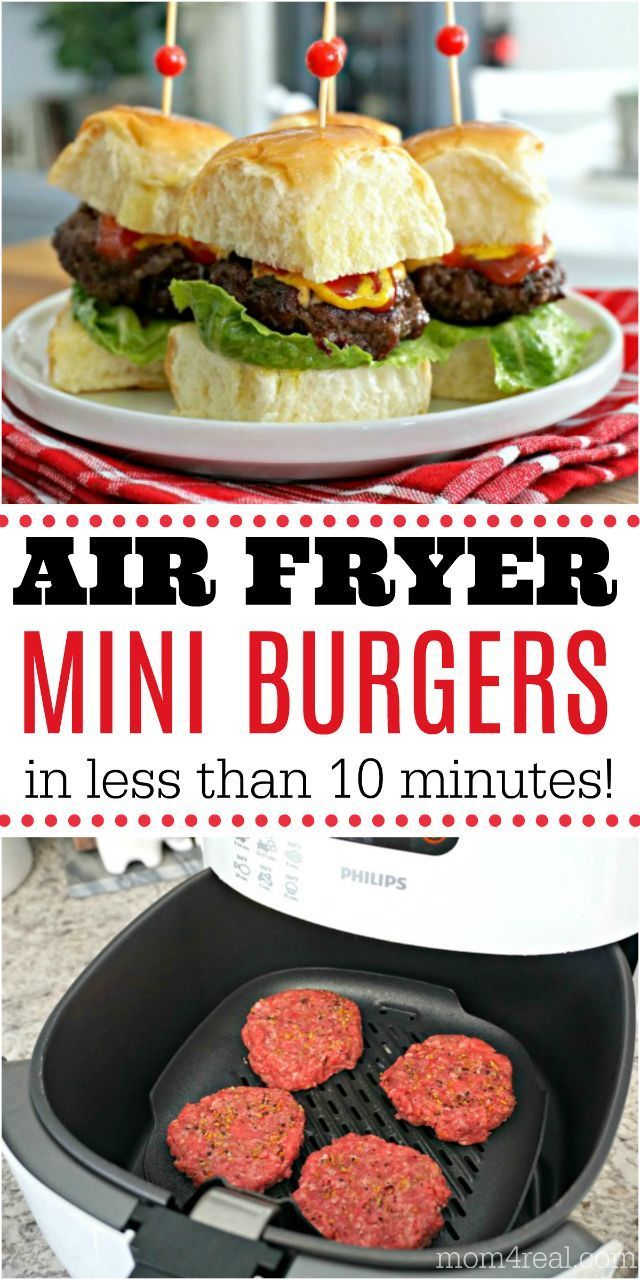 Easy Air Fryer Mini Burgers With Cheese Recipe Air Fryer Recipes Healthy Mini Burgers Air Fryer Dinner Recipes