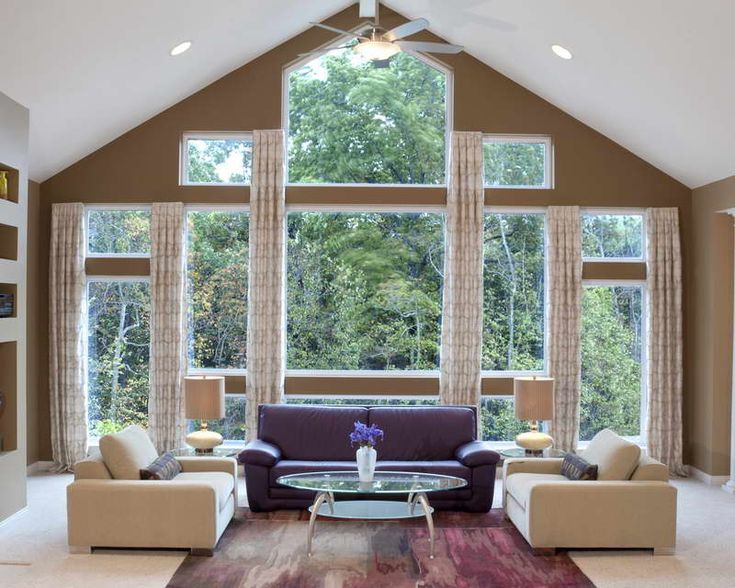 Window Treatments For Large Windows | Related Post From Window Treatment  Ideas For Large Windows · Living Room ...