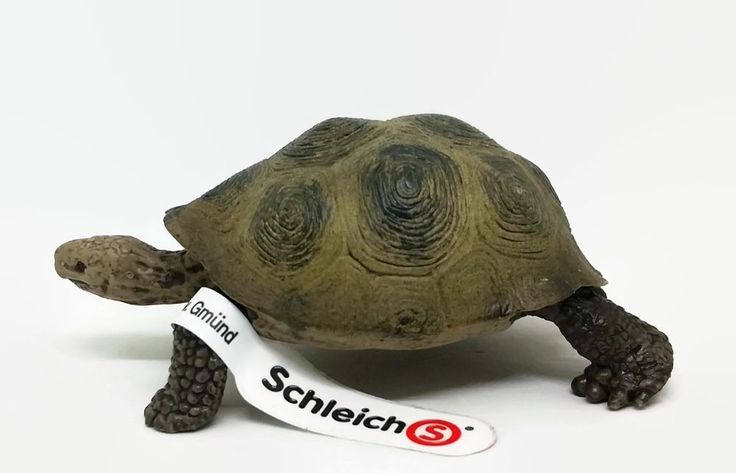 Schleich Tortoise Turtle w/ Tag #146013 Pretend Play Wild Animal Toy Figure 2008 #Schleich