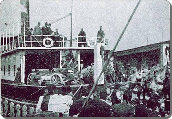 """İlk araba vapuru """"Suhulet"""" - 1890 lar"""