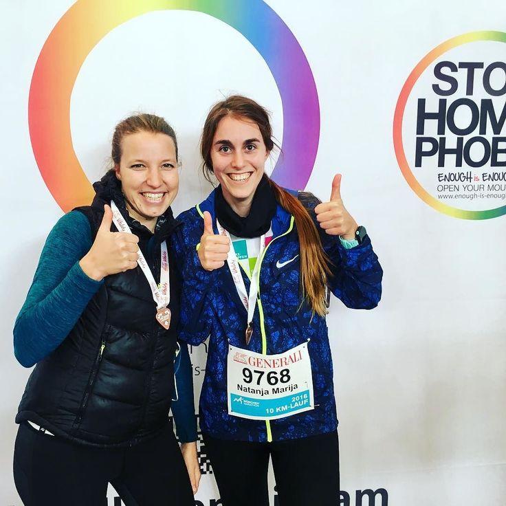 Natanja und Susanna haben es auch gepackt!  Und wir sagen Danke! #Charity #LaufendGutesTun  #EnoughisEnough #StopHomophobia #LGBTI #Community #gay #vielfaltsport #stophomophobiainsports #münchen #marathon #sport #athleten #olympiazentrum #olympiahalle