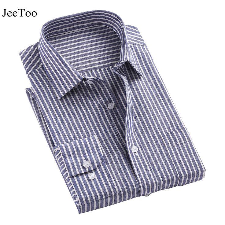 Brand Men Long Sleeve Shirt Turn-down Collar Striped Shirt Men With Stripes Slim Fit Cotton Camisa Masculina Brand Clothing 2017