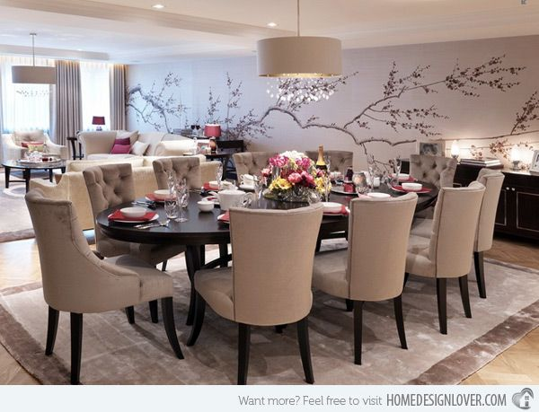 How To Decorate The Dining Room With A Dazzling Wallpaper
