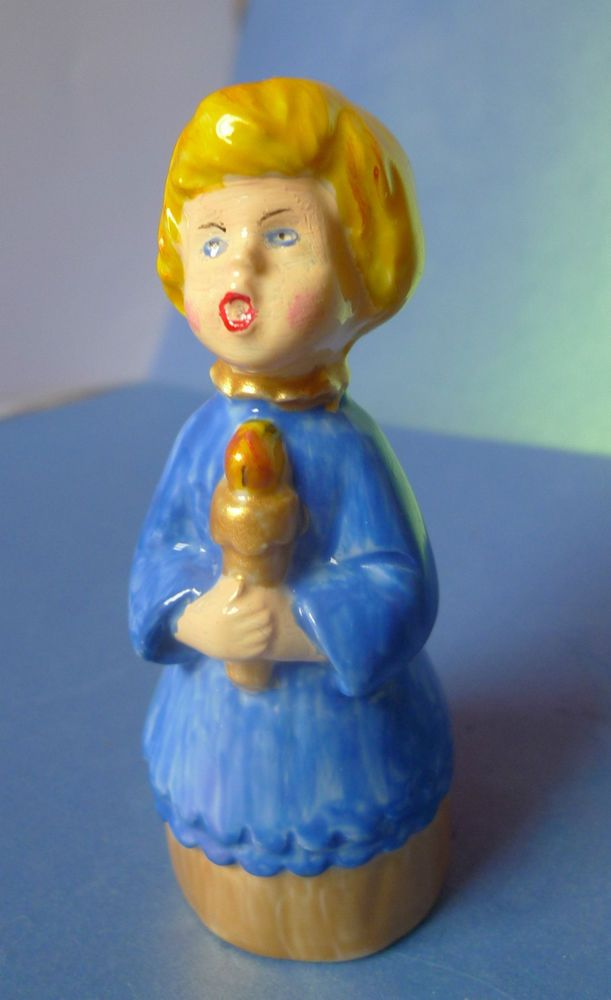 Vintage Sweden Pottery Art Studio Singing Boy Christmas Figurine marked by SE 98