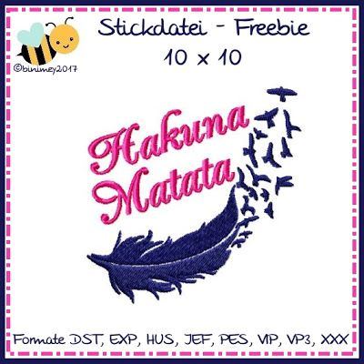 binimey Freebie Hakuna Matata für die KW 06-2017