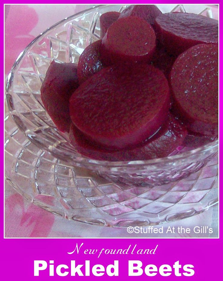 Pickled Beets are a Newfoundland specialty served with the vegetables in a cooked dinner. Sweet and sour with a hint of spice, these make a wonderful complement to dinner.