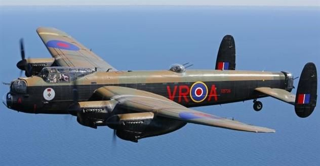 Beautiful pic of Vera, one of the last surviving Lancaster bombers!