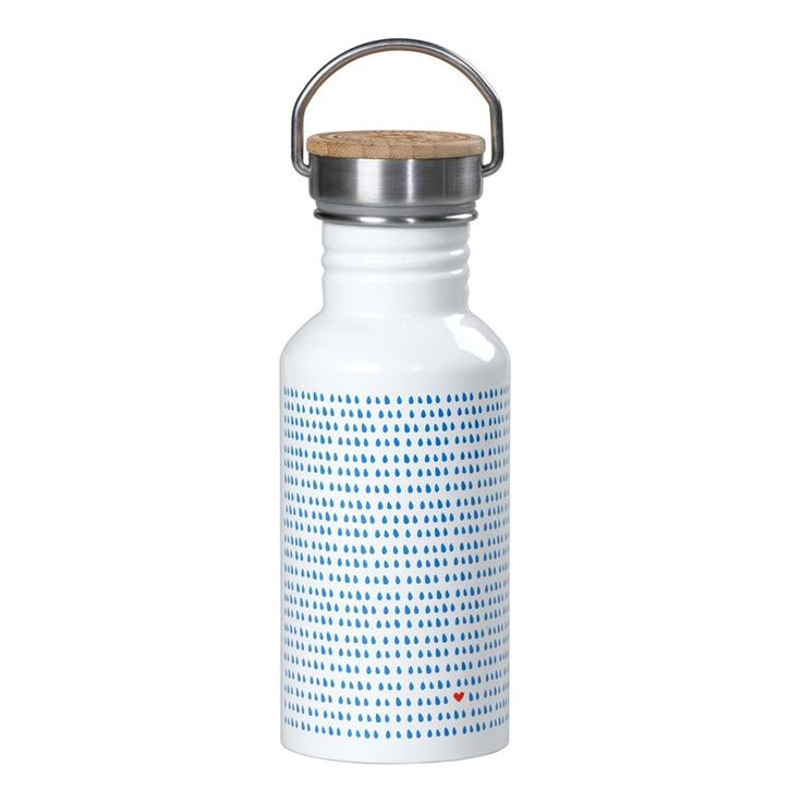 Botella de agua diseño lluvia