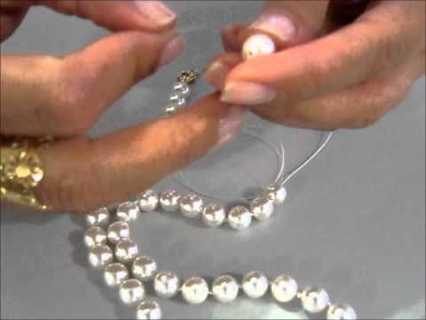 ▶ Técnica do nozinho em fio de Pérolas - YouTube
