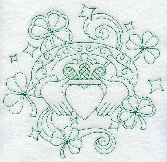 Claddagh Greenwork Embroideries Pinterest Claddagh