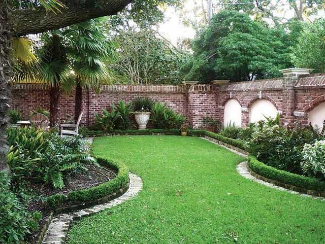 The Best Of Edge Brick Wall Garden Design