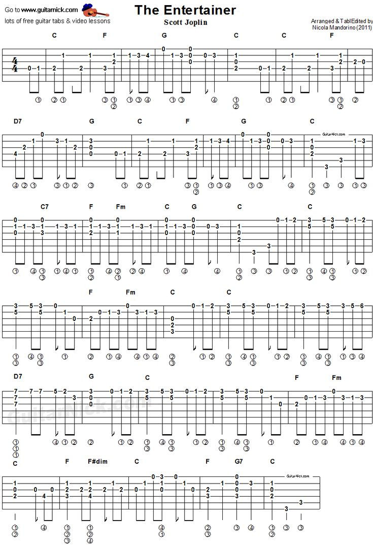 Best 25 guitar tabs ideas on pinterest guitar chords guitar guitar lesson with free tab chords sheet music and video tutorial the entertaineri by scott joplin acoustic arrangement hexwebz Image collections