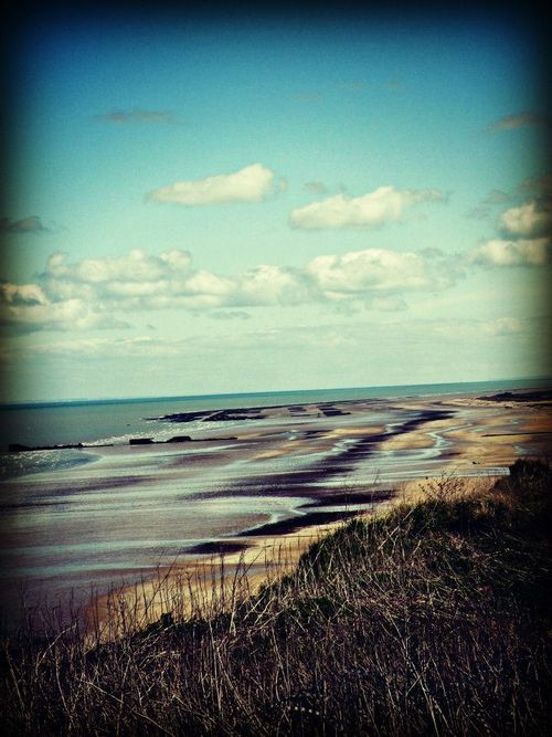Normandy Beach - Site of D-Day Landing - longest beach to cross, they didn't stand a chance...