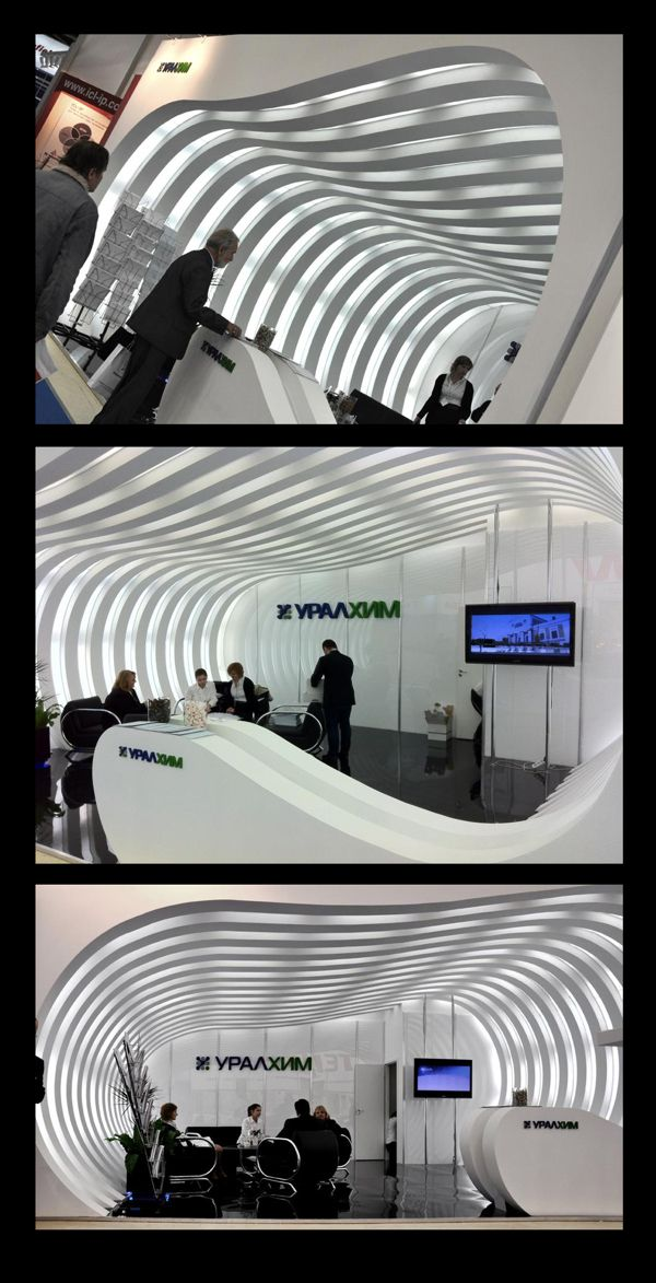 exhibition stand URALCHEM. Moscow 2011 by Ni. Medvedev, via Behance