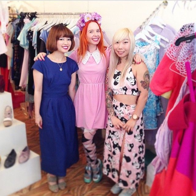 Visiting the lovely @hanako_k_ & @lady_petrova today at the store!' Grabbing some amazing bargains! #wndlnd #ladypetrova #melbourne #fashionista #hanako #boxingday