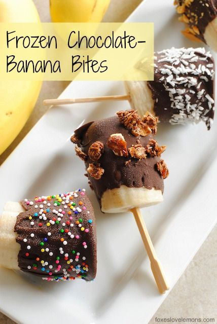 frozen chocolate-banana bites