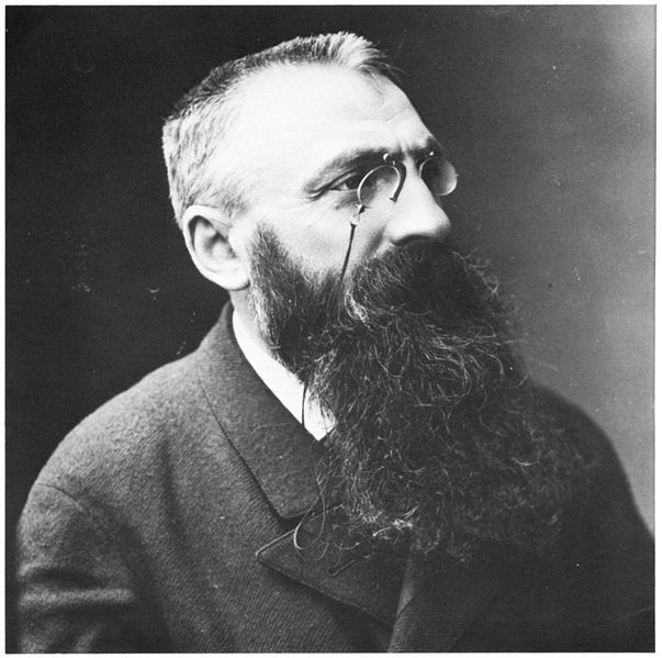 Auguste Rodin by Felix Nadar, French Photographer (1820 - 1910). S)