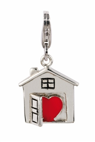 Amore & Baci love house silver charm