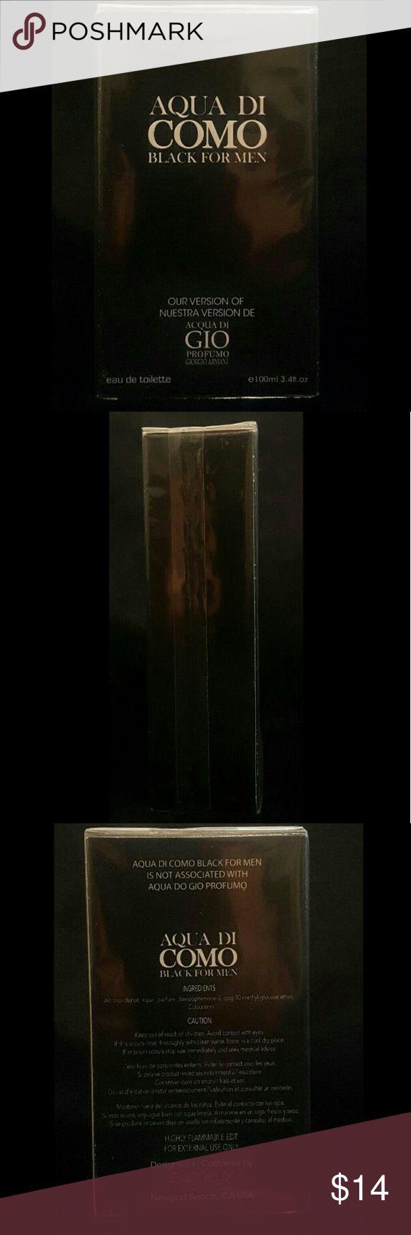 Aqua Di Como -Black - Impression of Georgio Armani Aqua Di Como  Black For Men   Impression of Aqua Di Gio  By Georgio Armani   Men's Cologne  Eau De Toilette   New in Packaging   100ml  3.4fl.oz.  Made in ROI   Fast Shipping and Handling! Eurolux Accessories