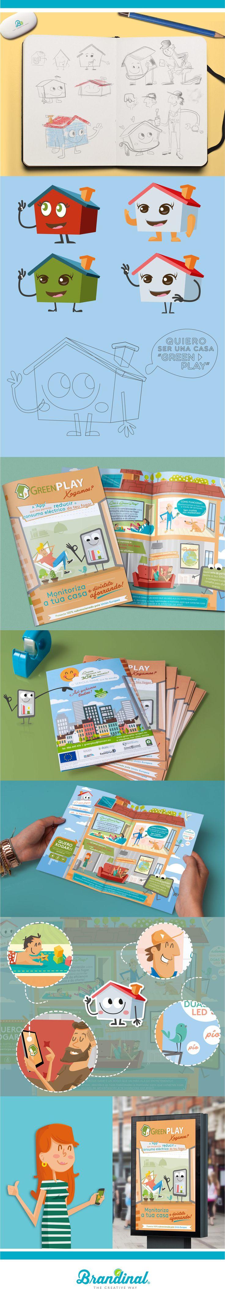 Comunicación GreenPlay _ Fundación Faimevi _ Communication & Illustration _ #graphicdesign #illustration #artdiretion #brouchure