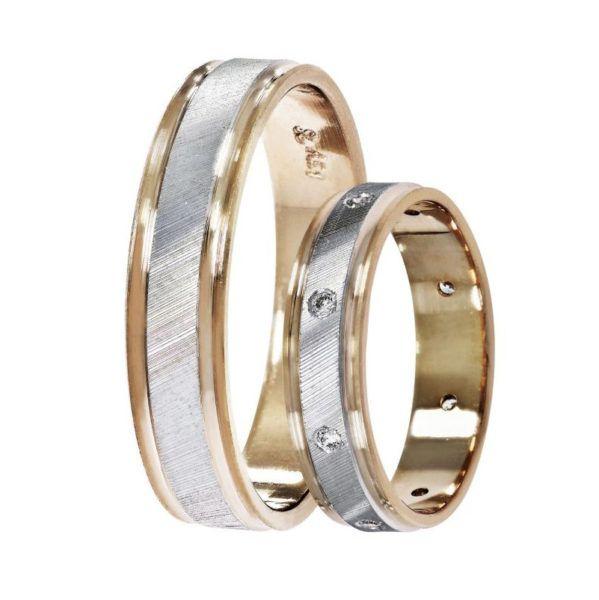 Βέρες γάμου Stergiadis δίχρωμο  ροζ  χρυσό Κ14 SAT-11rw543