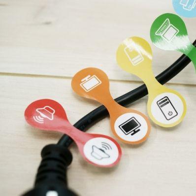 Colorful Cord Tag Sticker
