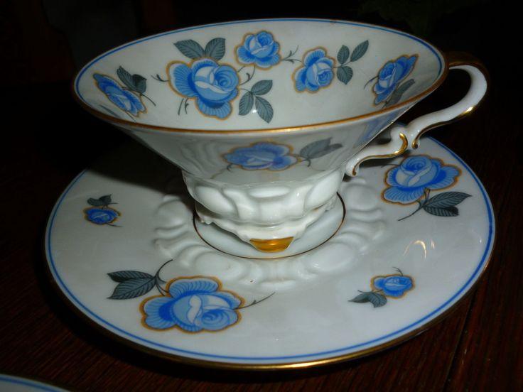 Sammelgedeck Sorau 3 teilig blaue Rosen