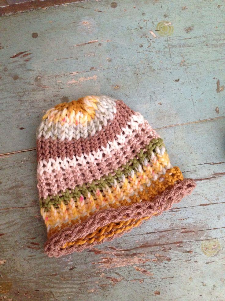 Loom knit baby hat