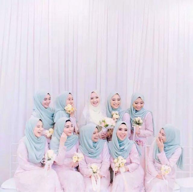 Koleksi Tema Warna dan Design Baju Bridesmaids | Blog Sihatimerahjambu