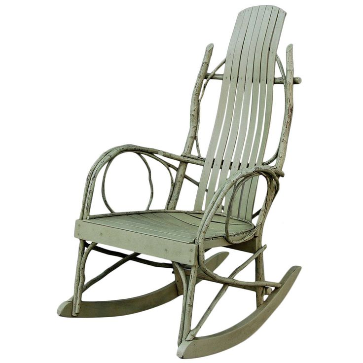 Original American Twig Adirondack Rocking Chair 1