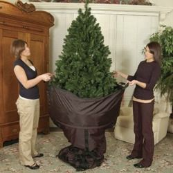 The TreeKeeper Christmas tree storage bag keeps your artificial tree clean from year to year, and allows you to store it without ever having to disassemble it again!