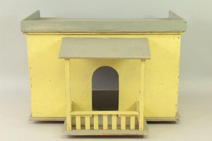 p1k75- Spielzeug Puppenstube Gehäuse mit Veranda, wohl 20/40er Jahre | eBay
