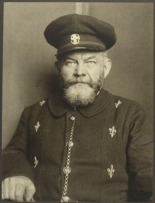 A Danish man. Portraits from Ellis Island, Augustus Sherman.