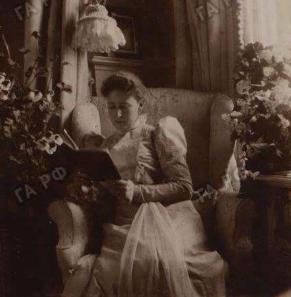 Grand-duchess Elisabeth sister of empress Alexandra in the mauve room