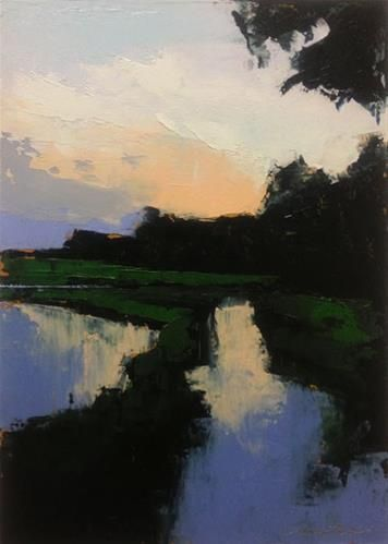 """Marsh, Summer Evening"" - Original Fine Art for Sale - © Mary Gilkerson"